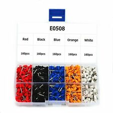 E0508 Wire Copper Crimp Connector Insulated Cord Pin End Terminal Kit Box 800pcs