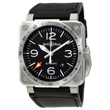 Bell and Ross Aviation GMT Black Dial Automatics Mens Watch BR03-93-GMT