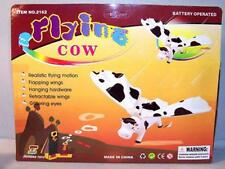 2 BATTERY OPERATED FLYING COW toy cows animals toys funny  cow farm animals new