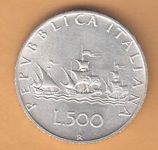 ITALIA LIRE 500 ARGENTO CARAVELLE Q/FIOR DI CONIO FDC ANNO DIFFICILE 1964 REGALO