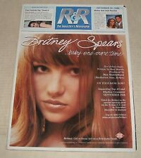 9/25 1998 R & R MUSIC INDUSTRY NEWSPAPER MAGAZINE w CHARTS BRITNEY SPEARS ALANIS