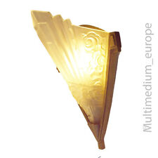 Art Deco Wandlampe Metall Glas glass wall lamp metal brass