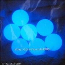 17221*15PCS Round Blue Glow In Dark Beads 15mm For Locket Good Quality