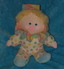 Vtg Bantam Musical Clown Pastel Stars Stuffed Wind Up Baby Toy Brahms Lullaby
