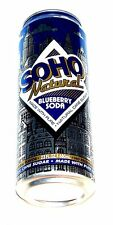Soho Blueberry Natural Drink Soda Top Pop Can Flat New York Energy Monster MkOfr