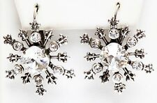 KIRKS FOLLY POLAR EXPRESS SNOWFLAKE LEVERBACK EARRINGS  ~ Never Released  silver