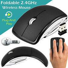 Inalámbrico De 2.4 ghz Inalámbrico Óptico Scroll Pc Laptop Plegable Mouse Con Usb Dongle