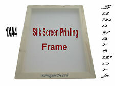Stampa SERIGRAFICA cornice in legno 1x A4 43T (110 USA) mesh unità Quantità1