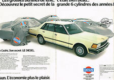 PUBLICITE ADVERTISING 034   1980   DATSUN  CEDRIC  DIESEL    ( 2 pages)