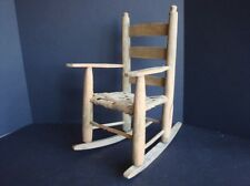 """VINTAGE DOLL WOODEN ROCKING CHAIR- FITS 14-15"""" DOLL"""