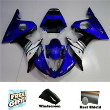 Fit for Yamaha 03-05 YZF R6 & 06-09 YZF R6s Black Blue Injection Fairing Kit a31
