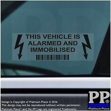 5 x This Vehicle,Car,Van,Taxi,Cab,Alarm and Immobiliser Security Sticker,BLACK