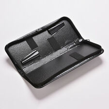 Black Hairdressing Scissor Case Leather Shears Storage Box Zipper Pouch Bag 5HUK