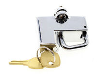 "UNIVERSAL KURYAKYN MOTORCYCLE HELMET LOCK CHROME 7/8"" 22MM TUBE AND TWO KEYS"