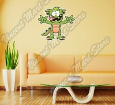 """Green Cute Monster Cartoon Kids Gift Wall Sticker Room Interior Decor 20""""X25"""""""