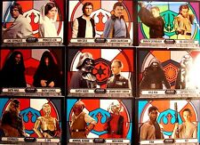 2016  STAR WARS EVOLUTION STAINED GLASS PAIRINGS COMPLETE SET 1-9