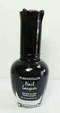 1PC Kleancolor Nail Polish Lacquer #5 BLACK Manicure