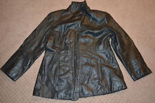 Womens Outbrook Black Leather Size L Large Coat Jacket