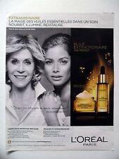 PUBLICITE-ADVERTISING :  L'OREAL Huile Age Perfect  2014 Doutzen Kroes,Jane Fond