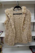 Neiman Marcus Vest Hoody Jacket (Fur) Size:Medium