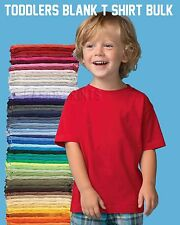100 NEW TODDLER BLANK PLAIN T-SHIRTS LOT BULK U MIX COLORS/SIZE 2T 3T 4T 5T