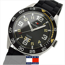 BRAND NEW TOMMY HILFIGER 1790978 COOL SPORT BLACK RUBBER STRAP MEN'S WATCH