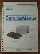 Record-Player Amplifier 22AF200 Philips Service Manual Serviceanleitung