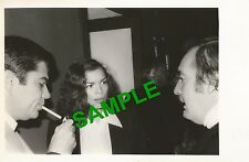 PHOTO BIANCA JAGGER CLIVE BARNES REX REED - ROLLING STONES MICK JAGGER 1977