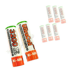8 pcs AA size 1.2V 3200mAh Ni-MH Rechargeable Battery LR06 HR6 Ultracell plus O
