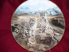 W.S. George Plate Secret Heights Charles Frace Nature's Playmates Snow Leopards