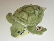"Sea Turtle Stuffed Animal New WWF Oceania 7.5"" Long Plush Green"