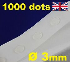 NEW 1000 Glue Dots Sticky Craft Clear Card Making Scrap Removable 3mm STRONG
