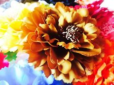 USA SELLER Hair Fashion Fabric Flower Clip Brooch Rose Peony Lady Brown shoes