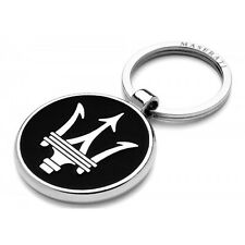 Genuine Maserati Black Silver Key Ring