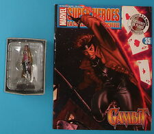 FIGURINE COLLECTION OFFICIELLE MARVEL EAGLEMOSS N°35 GAMBIT NEUF + FASCICULE