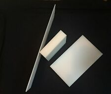 """1"""" White HDPE Plastic Sheet - Priced/Square Foot- Cut to Size!"""