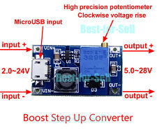 DC Boost Step Up Regulator Power Module Micro USB 2~24V to 5~28V 2A Adjustable