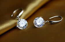2ct. Authentic Swarovski Clear Crystal 925 Sterling Silver Dangle Drop Earrings