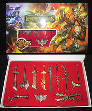 New LOL League of Legends 11PCS Champions Weapons Collection Metal Game Gift NIB