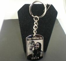 VALENTINES SPECIAL PERSONALIZED PICTURE WITH THE NAMES ON KEY CHAIN OR NECKLACE