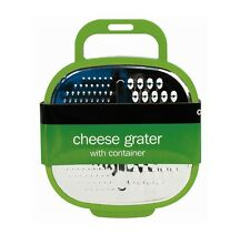 Green Kitchen Cheese Grater with Container and Grip Handle 4 Colours Available
