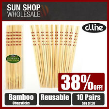 100% Genuine! D.LINE Asia Bamboo Chopsticks Set 10 Pairs! RRP$ 13.95!