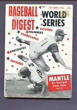 OCTOBER 1956 BASEBALL DIGEST WORLD SERIES SEE SCAN