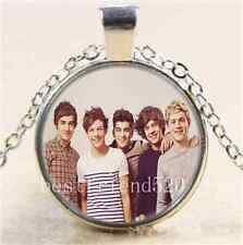 One Direction Photo Cabochon Glass Tibet Silver Chain Pendant Necklace
