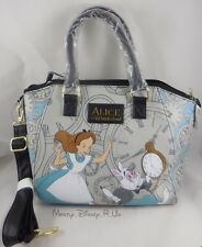 New Loungefly Disney Alice In Wonderland Rabbit Hole Satchel Purse Hand Bag