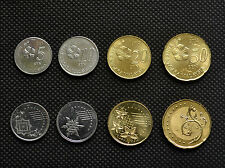 Malaysia 5, 10, 20, 50 Sen. Collections, Lots. Asia coins. Uncirculated. 4PCS