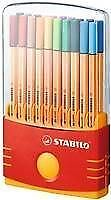 STABILO Colorparade Point 88 Fineliner Pens deskset of 20 Assorted Colours 0.4mm