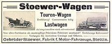 Stoewer Wagen Reklame von 1910 Lastwagen Touren Auto Stettin Werbung ad