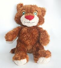 STEVEN SMITH Brown Stuffed Animal Plush Doll Green Eyes Teddy Bear