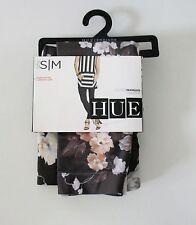 HUE Womens Floral Seamless Legging Gray U16136 Sz M/L - NWT